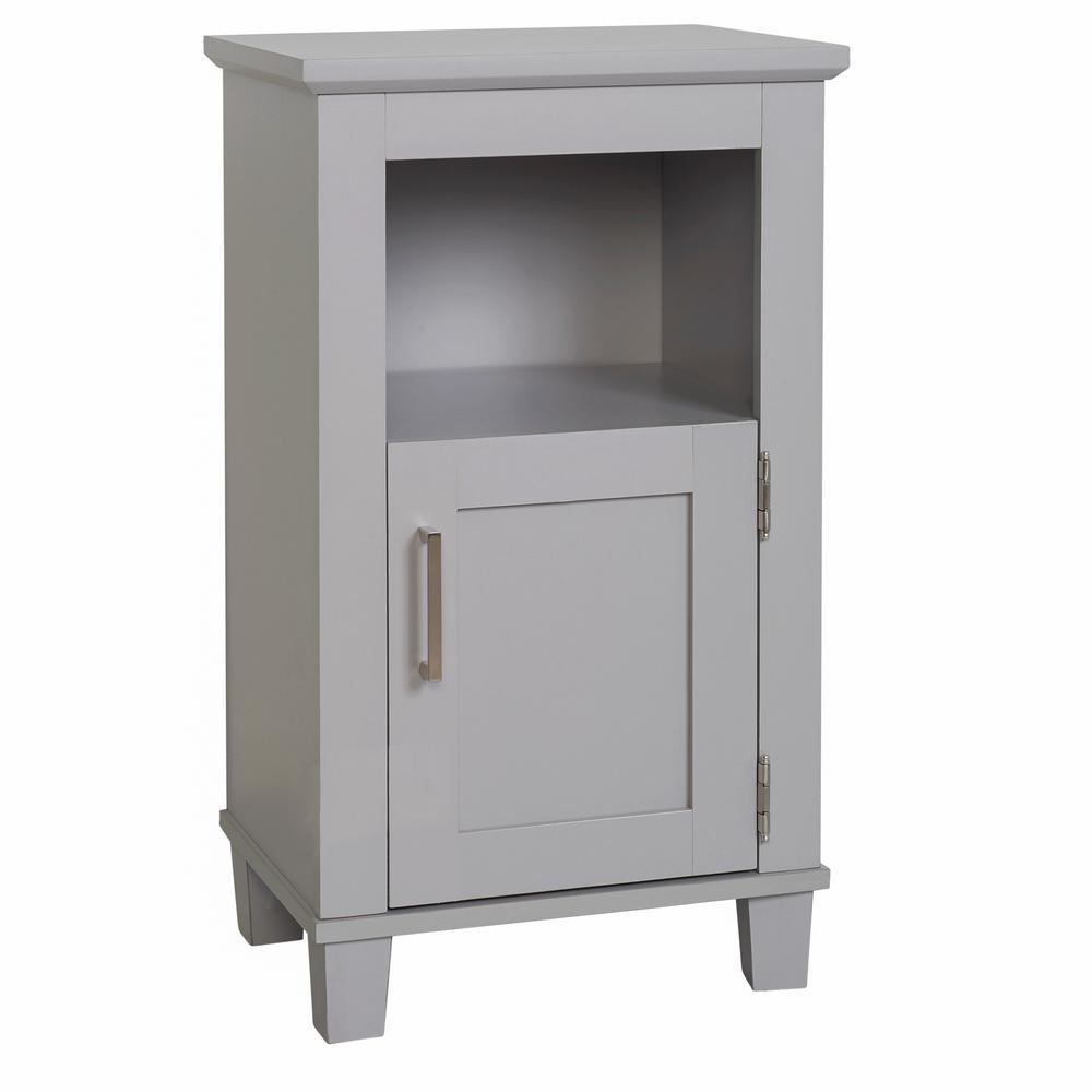 Shaker Style 16 in. W x 12 in. D x 29.9 in. H Floor Cabinet in Dove Gray