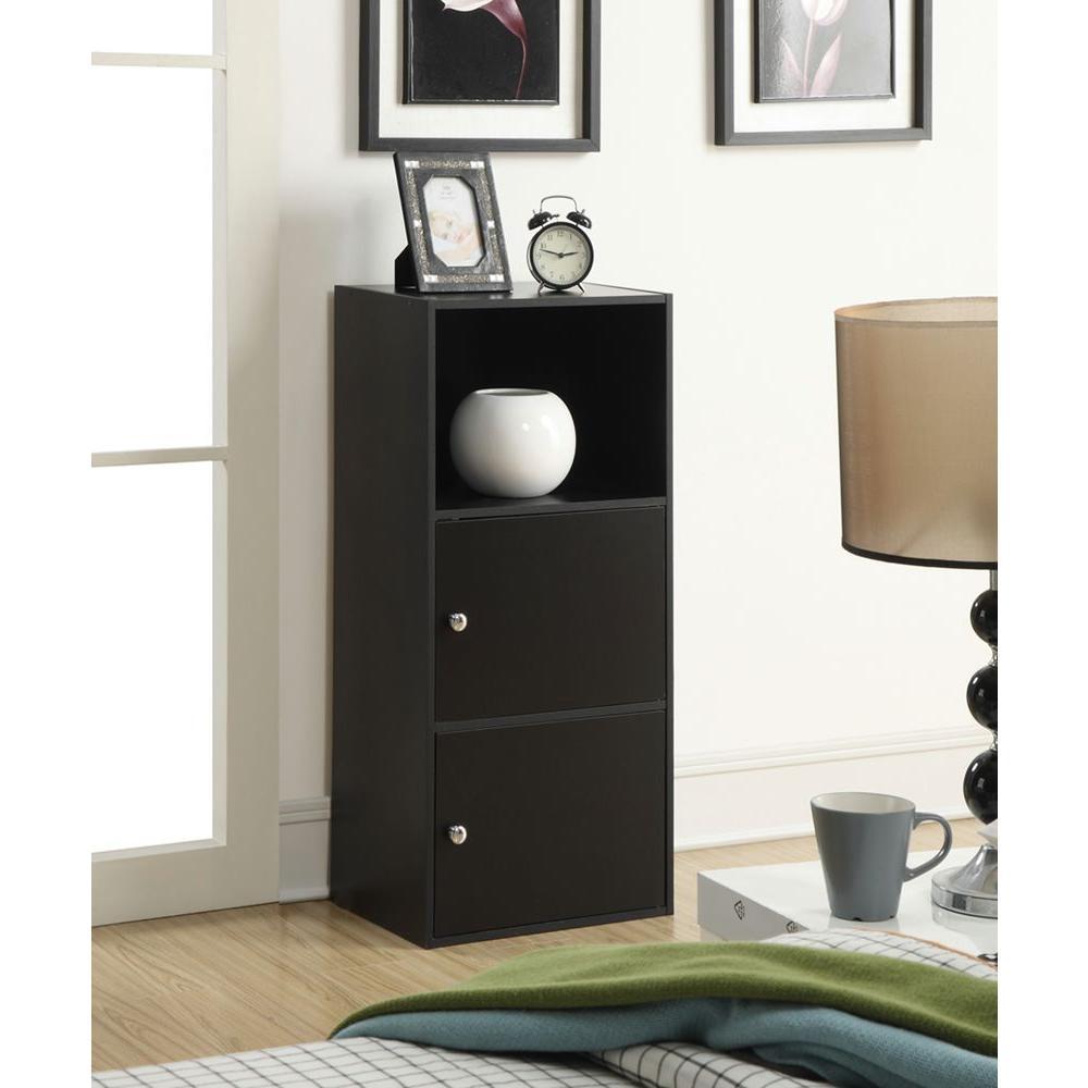 Convenience Concepts Designs2go Black Storage Cabinet-151187 - The ...