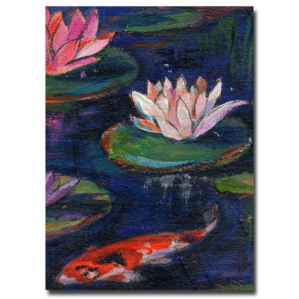 22 in. x 32 in. Lily Pod Canvas Art