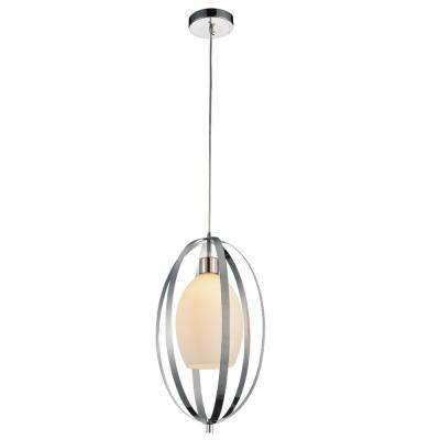 Dahlia 1-Light Satin Nickel Pendant