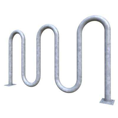Action 7-Bike Galvanized Surface Mounted Wave Bike Rack