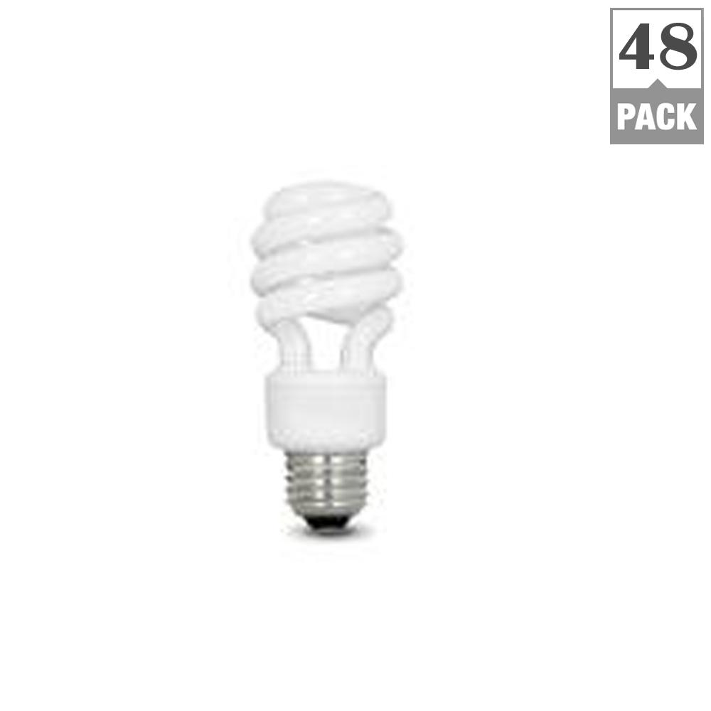 Feit Electric 40w Equivalent Soft White A19 Clear Filament: Feit Electric 60-Watt Equivalent Soft White A19 Spiral CFL