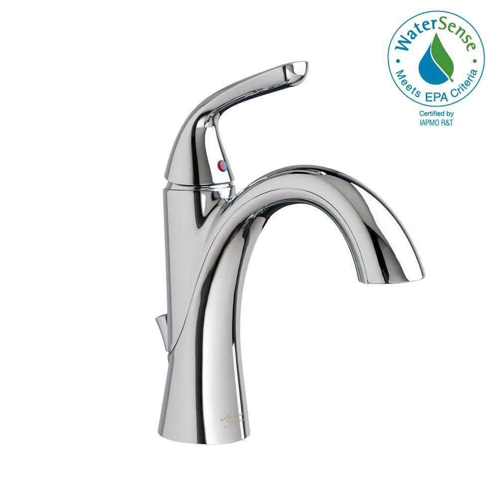 Fluent Single Hole Single-Handle Bathroom Faucet in Polished Chrome