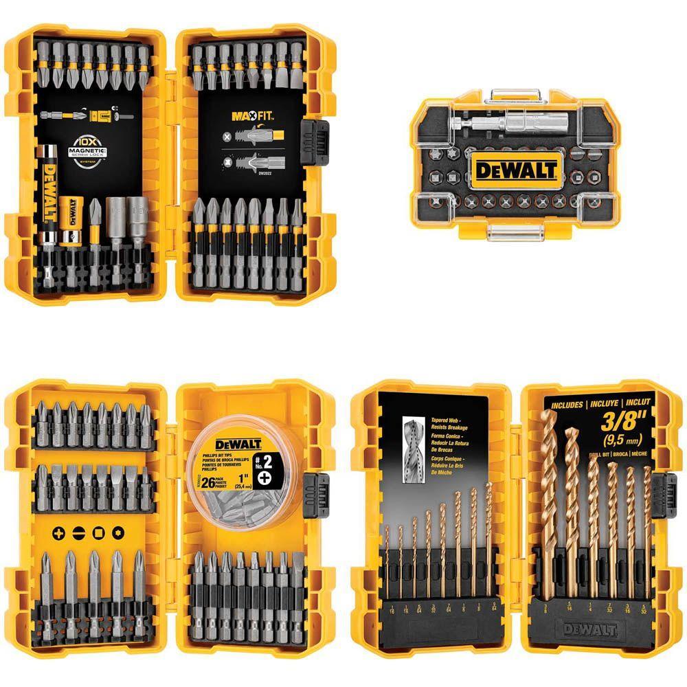 Dewalt Drill Drive Bit Set 130 Piece Dwa4case130hd The