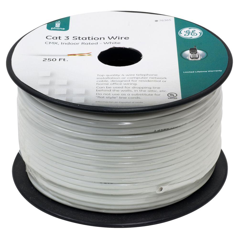 GE 250 ft. Station Wire - White