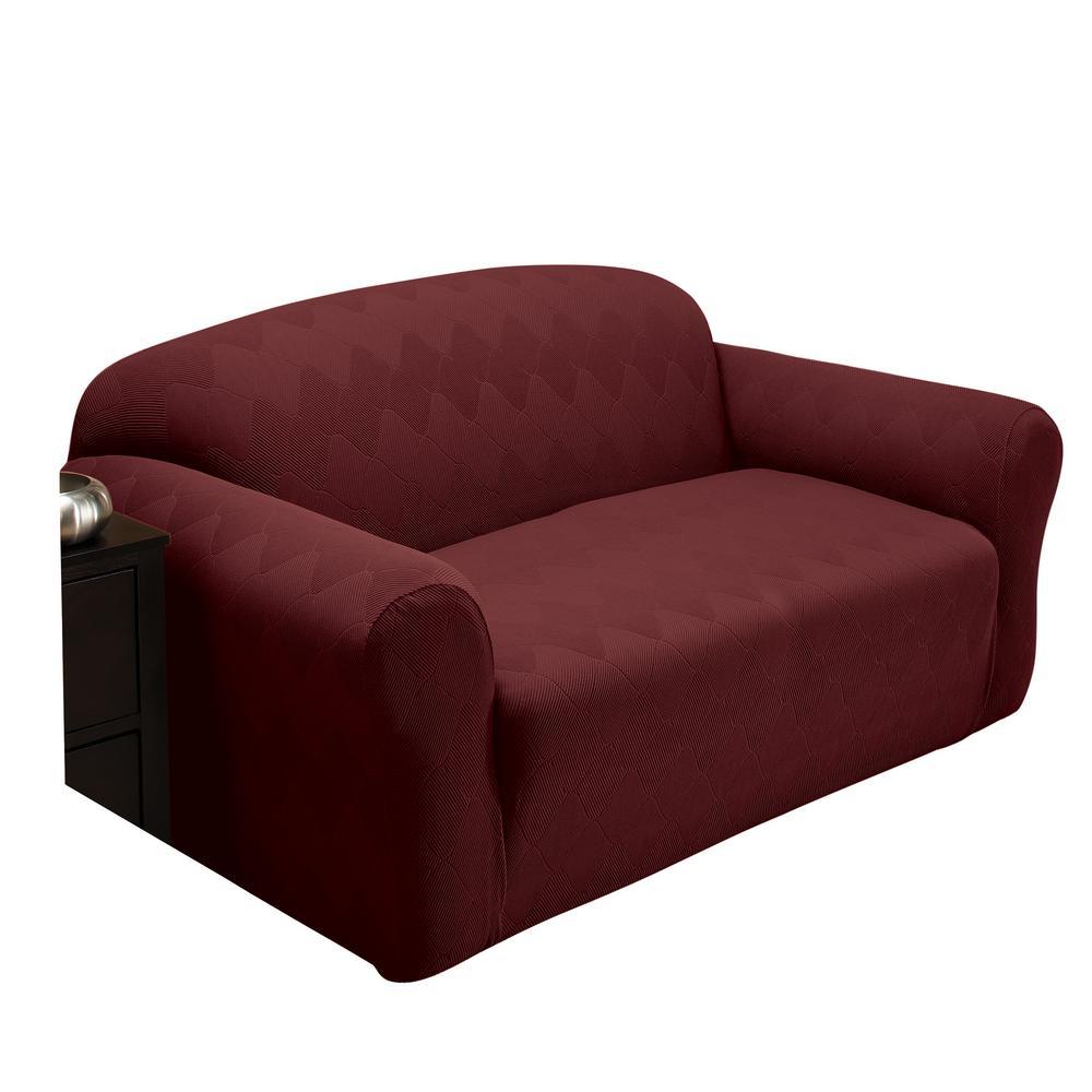 Stretch Sensations Optic Sofa Stretch Slipcover OPTSOFABURGUNDY