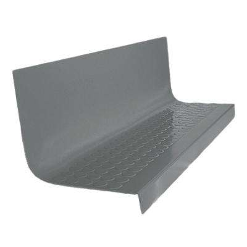 Vantage Circular Profile Dark Gray 20.4 in. x 60 in. Rubber Square Nose Stair Tread