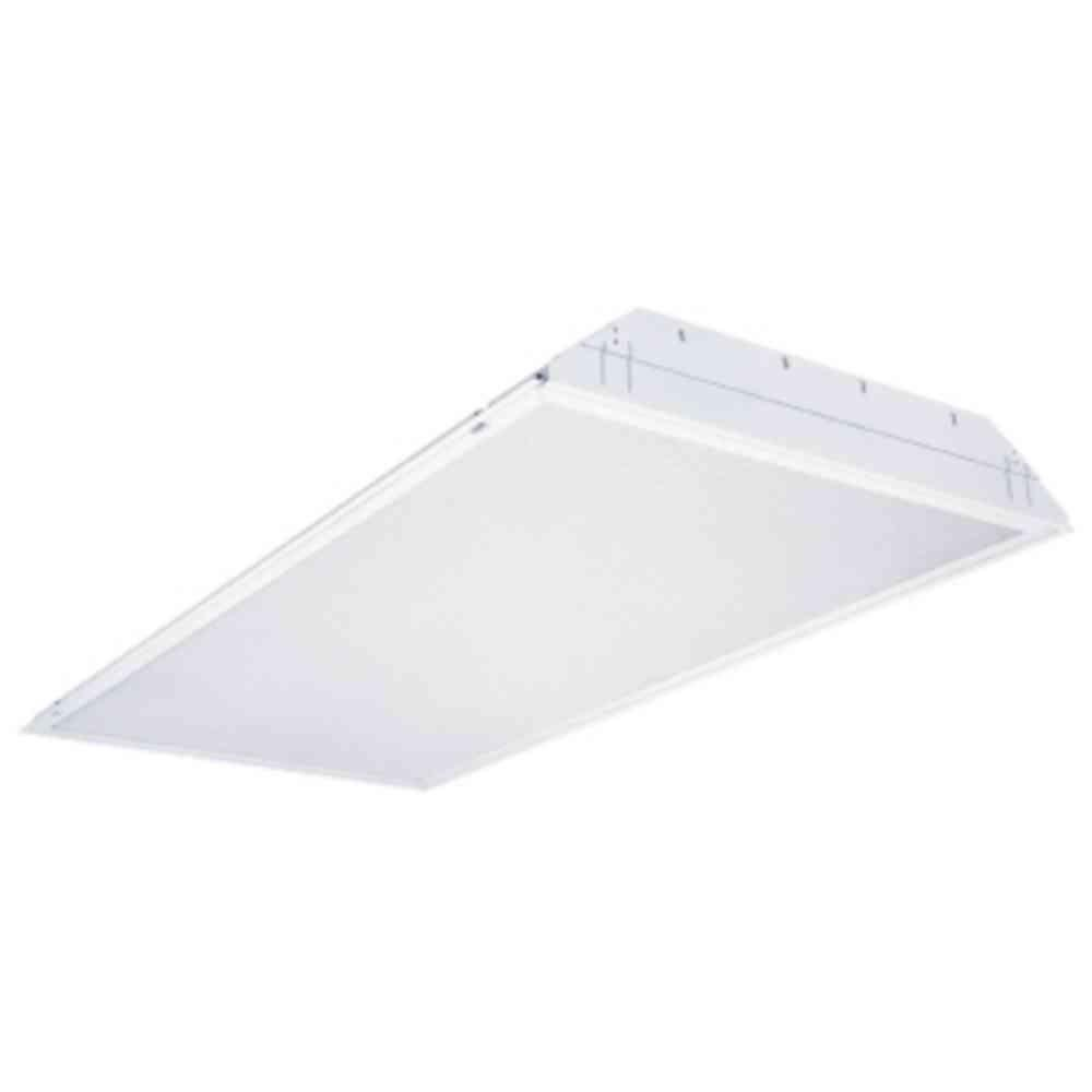 Lithonia Lighting 2 ft. x 4 ft. 3-Light Grid Ceiling White Multi-Volt T8 2-Ballast Tandem-Wired Troffer