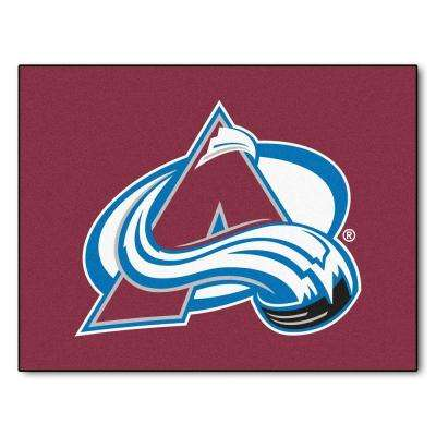 NHL Colorado Avalanch Red 3 ft. x 4 ft. Indoor All Star Area Rug