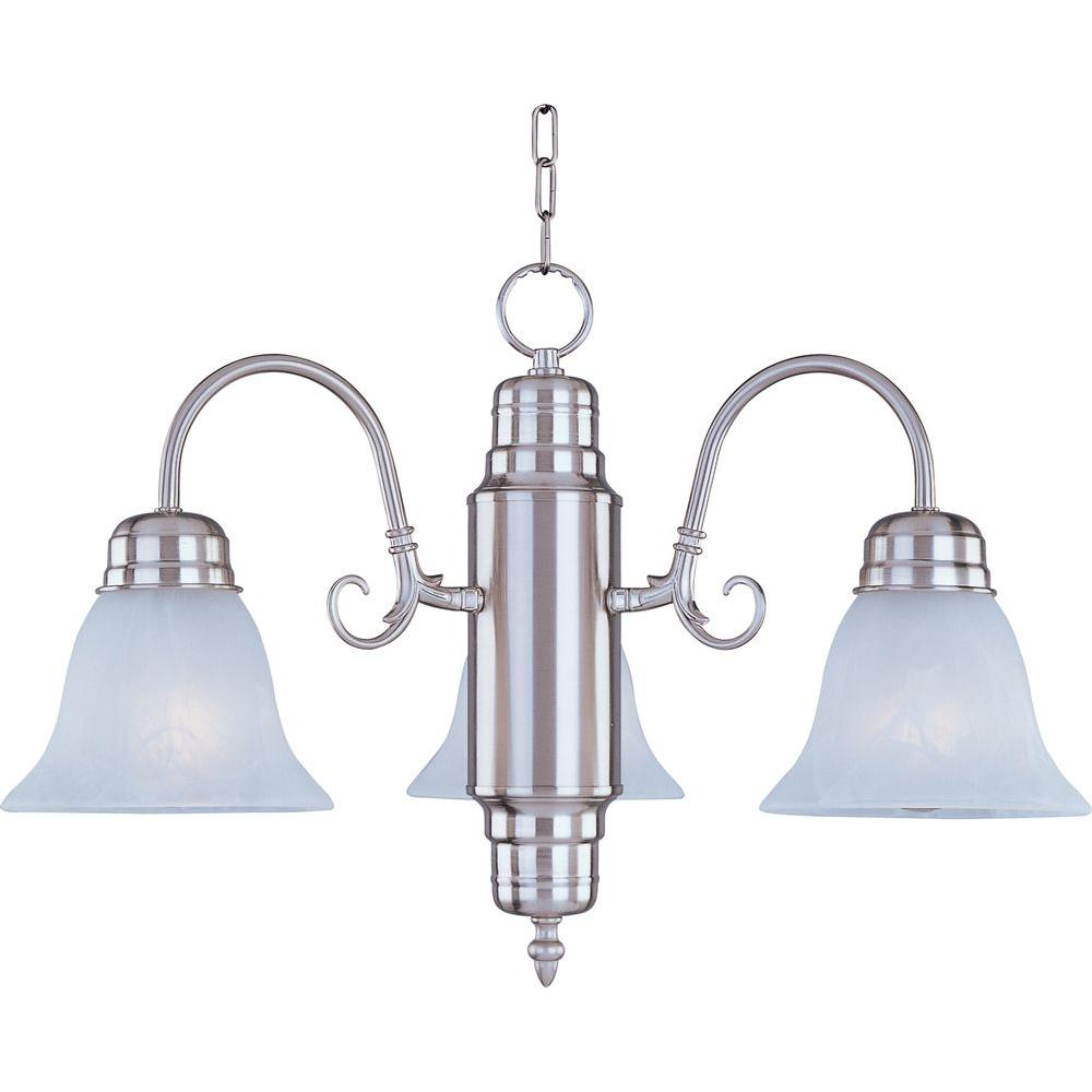 Maxim Lighting Builder Basics 3 Light Satin Nickel Mini Chandelier