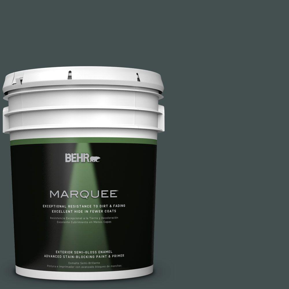 5 gal. #HDC-WR16-05 Evergreen Field Semi-Gloss Enamel Exterior Paint