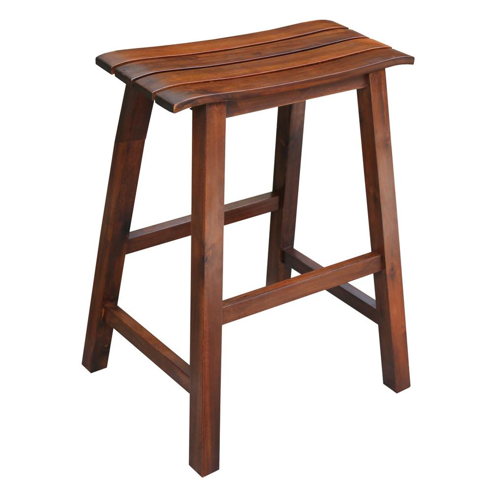 International Concepts Saddle 24 In Espresso Bar Stool S581 782