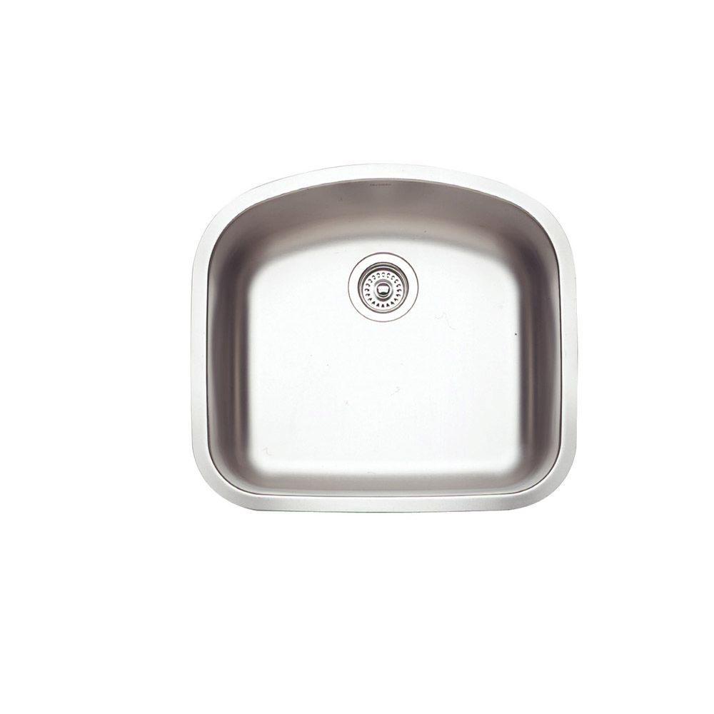Blanco Norstar Undermount Stainless Steel 22.5x20.5x8 0-Hole Single Basin Kitchen Sink-DISCONTINUED