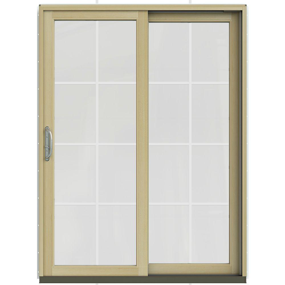 60 in. x 80 in. W-2500 Contemporary White Clad Wood Right-Hand