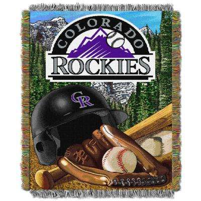 Rockies Multi Color Home Field Advantage Tapestry Throw