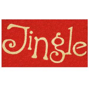 Jingle 29 in. x 17 in. Coir and Vinyl Door Mat