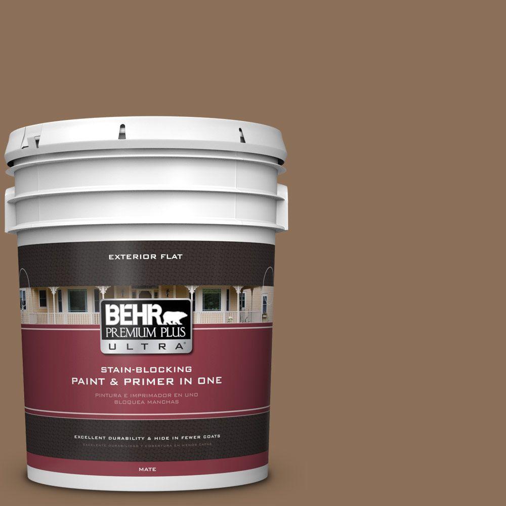 BEHR Premium Plus Ultra 5-gal. #280F-6 Sweet Georgia Brown Flat Exterior Paint
