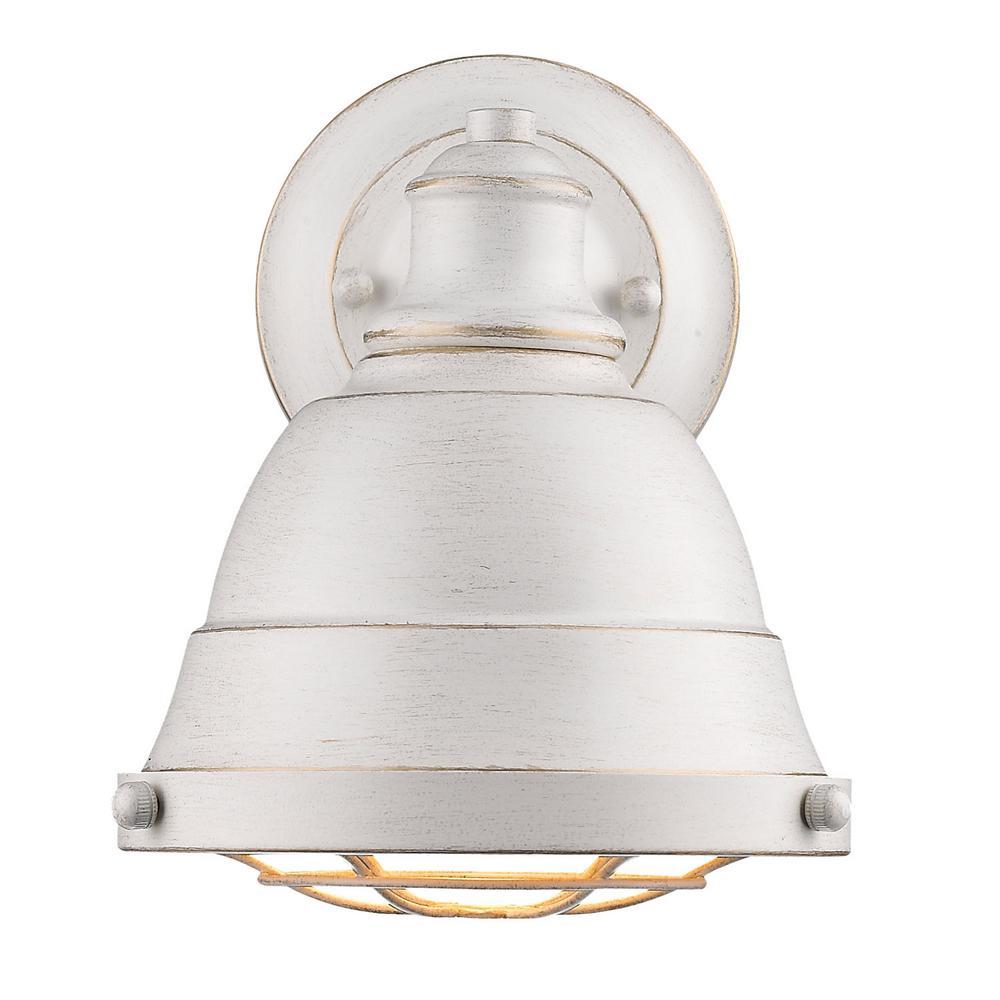 Bartlett 1-Light French White Bath Light