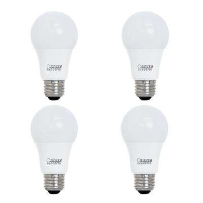 60-Watt Equivalent A19 Dimmable CEC Title 24 Compliant LED ENERGY STAR 90+ CRI Light Bulb, Bright White (4-Pack)