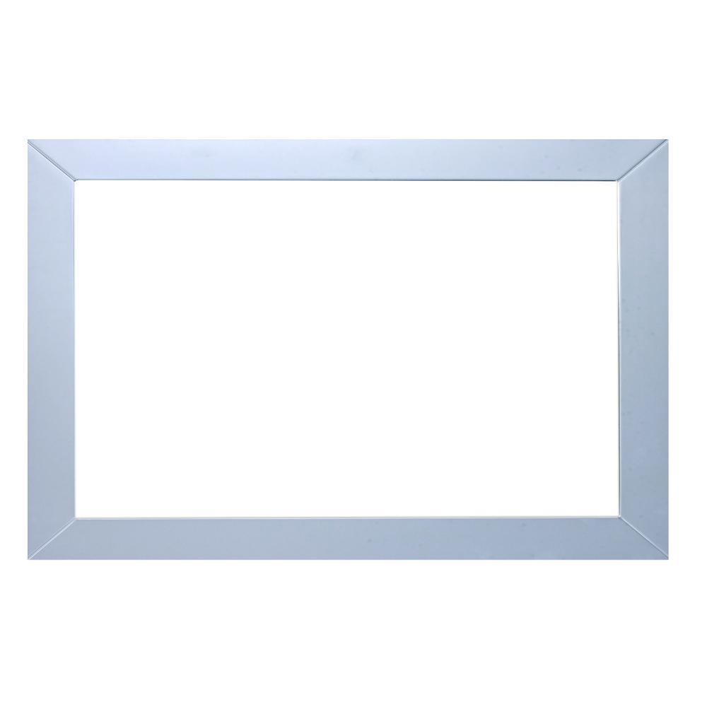 Eviva New York 48 in. W x 31 in. H Full Frame Wall Mounted Vanity Bathroom Mirror in Grey