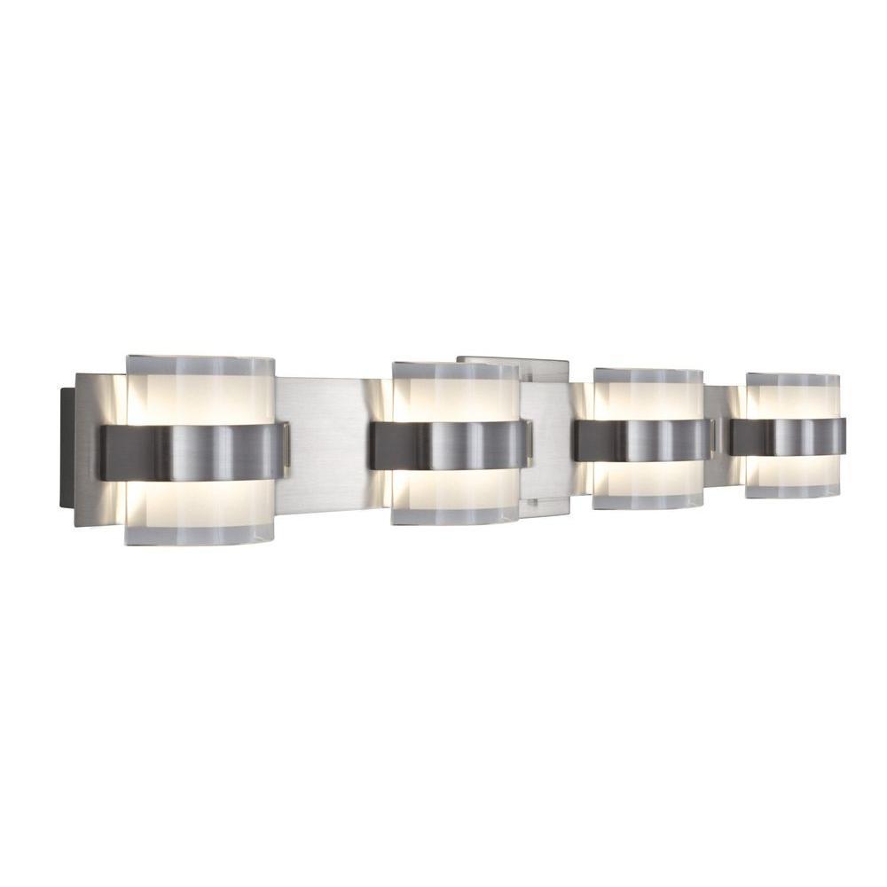 Rogue Decor Restraint 4-Light Polished Chrome LED Bath Vanity Light