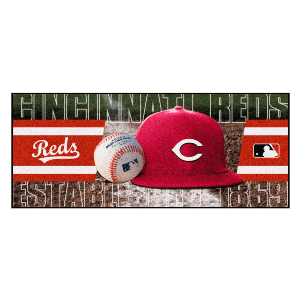 Cincinnati Reds 3 ft. x 6 ft. Baseball Runner Rug