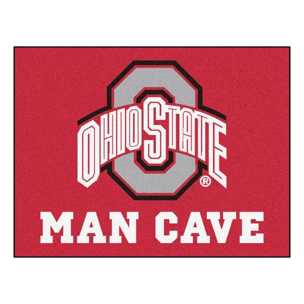 Ohio State University Red Man Cave 3 ft. x 4 ft. Area Rug