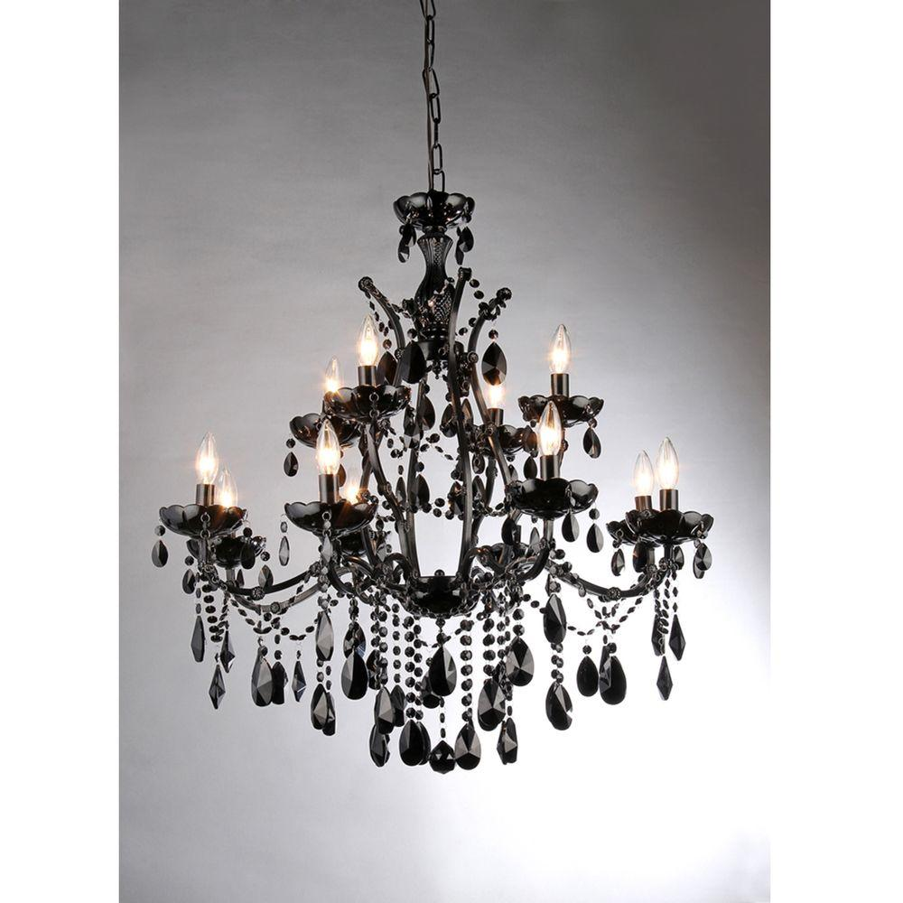 Warehouse of tiffany russhelle 12 light black metal chandelier warehouse of tiffany russhelle 12 light black metal chandelier aloadofball Choice Image