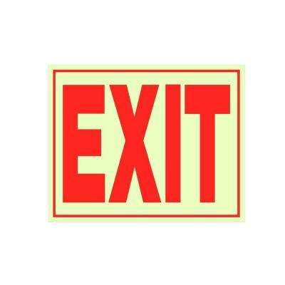 8 in. x 11 in. Glow-in-the-Dark Exit Sign