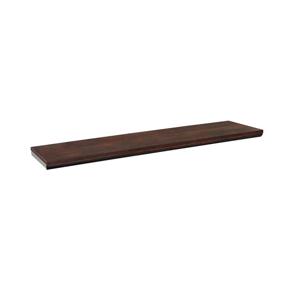 ClosetMaid Impressions 48 in. Chocolate Top Shelf Kit-30801 - The ...