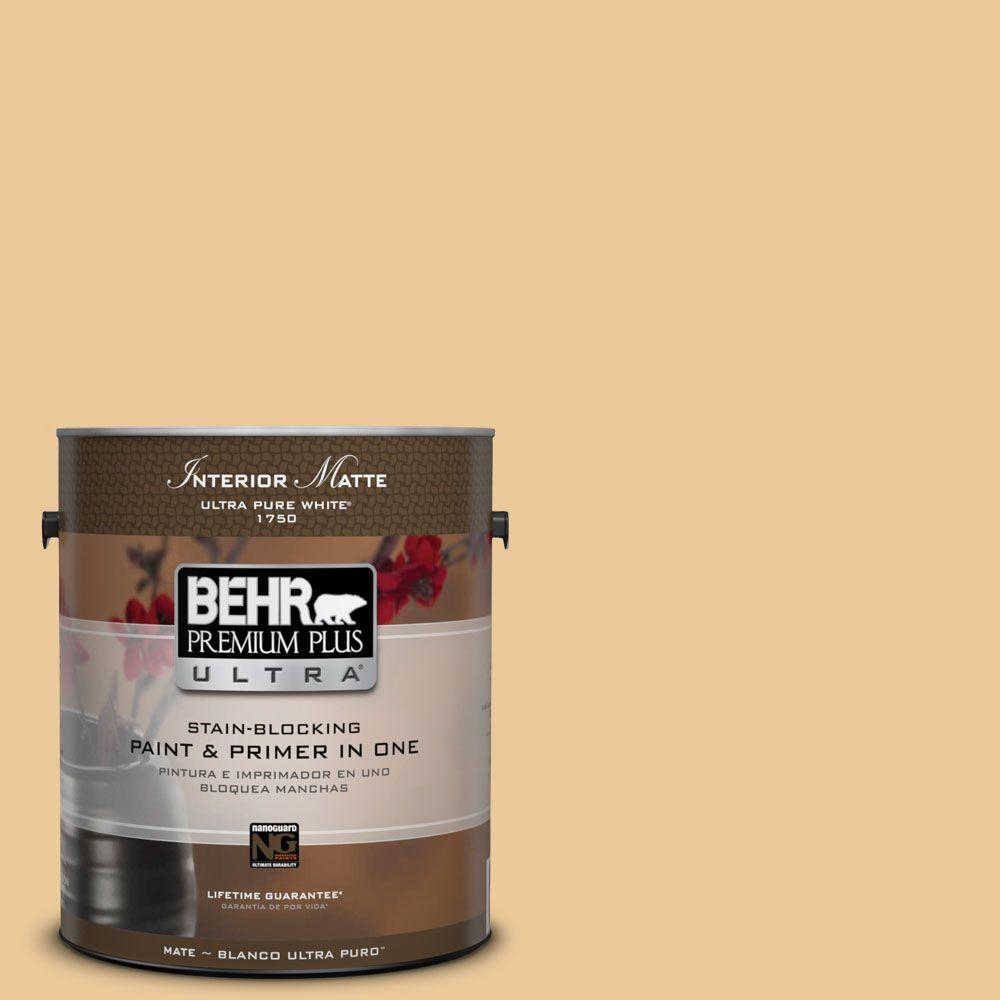 BEHR Premium Plus Ultra 1 gal. #M270-4 Filtered Moon Matte Interior Paint
