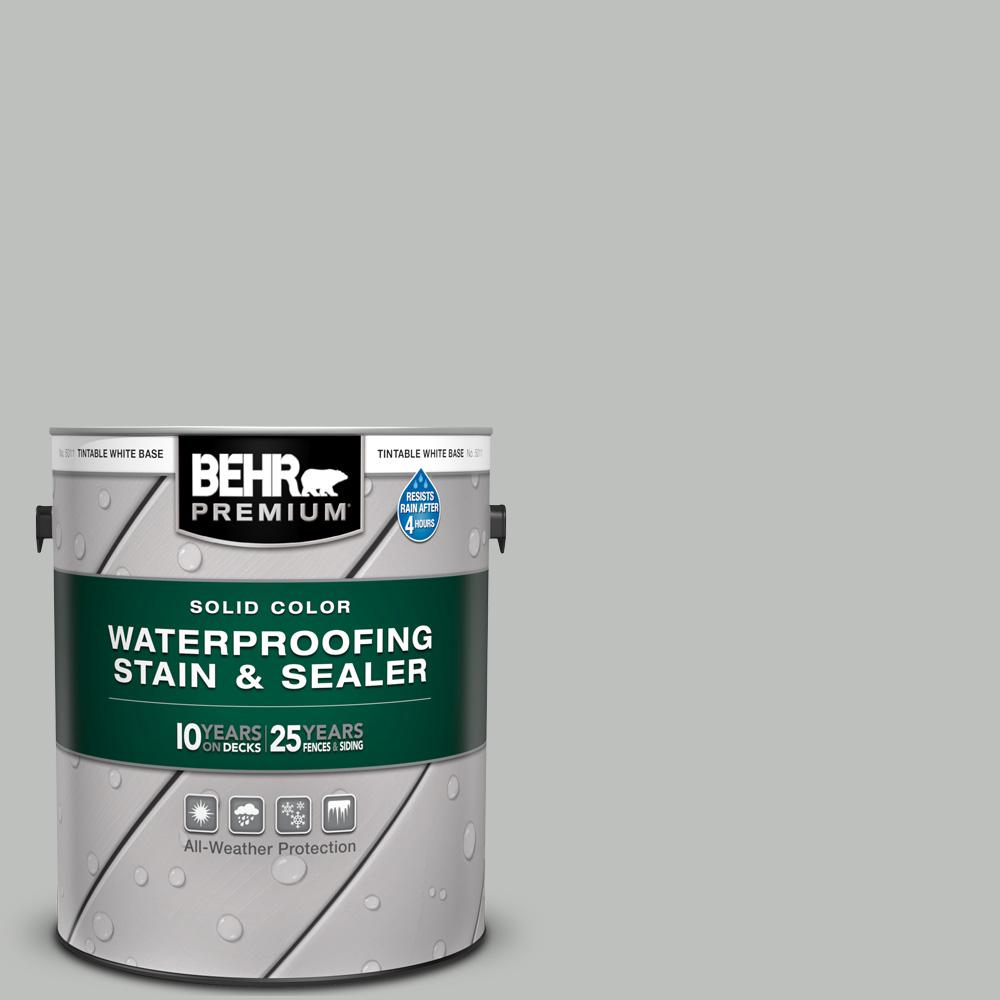 BEHR Premium 1 gal. #SC-365 Cape Cod Gray Solid Color Waterproofing Exterior Wood Stain and Sealer