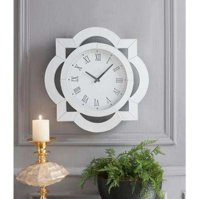 Lilac Mirrored Wall Clock