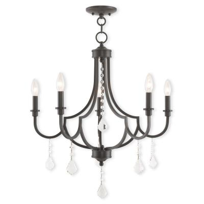 Glendale 5-Light English Bronze Chandelier