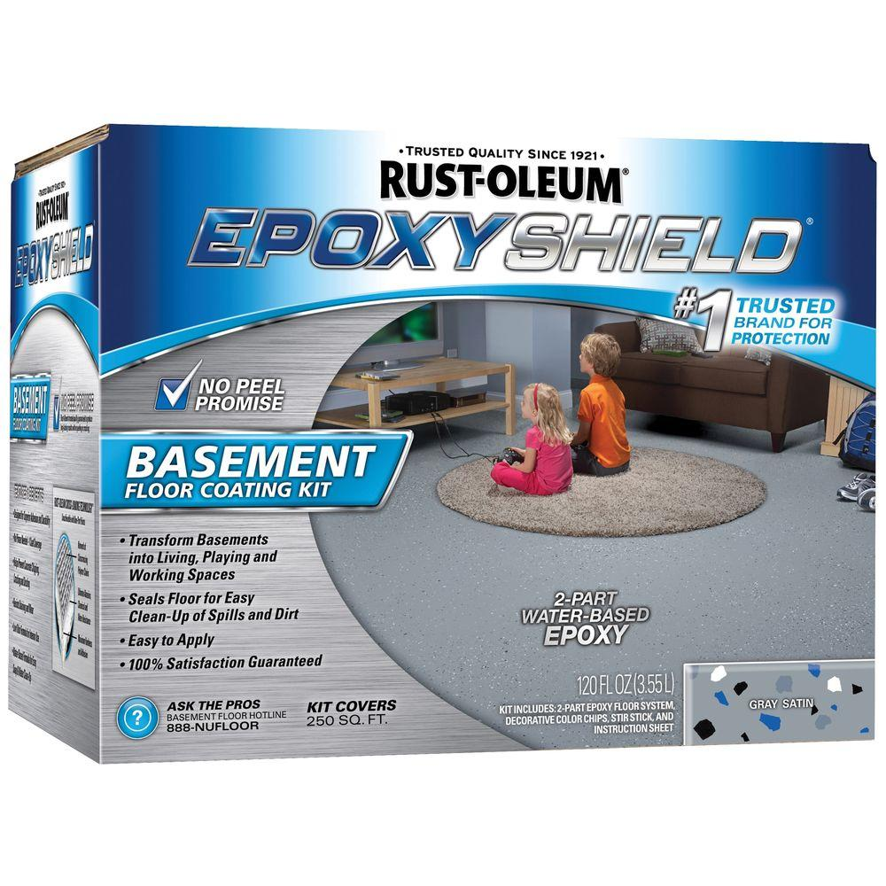 1 gal. Gray Satin Basement Floor Coating Kit (Case of 2)