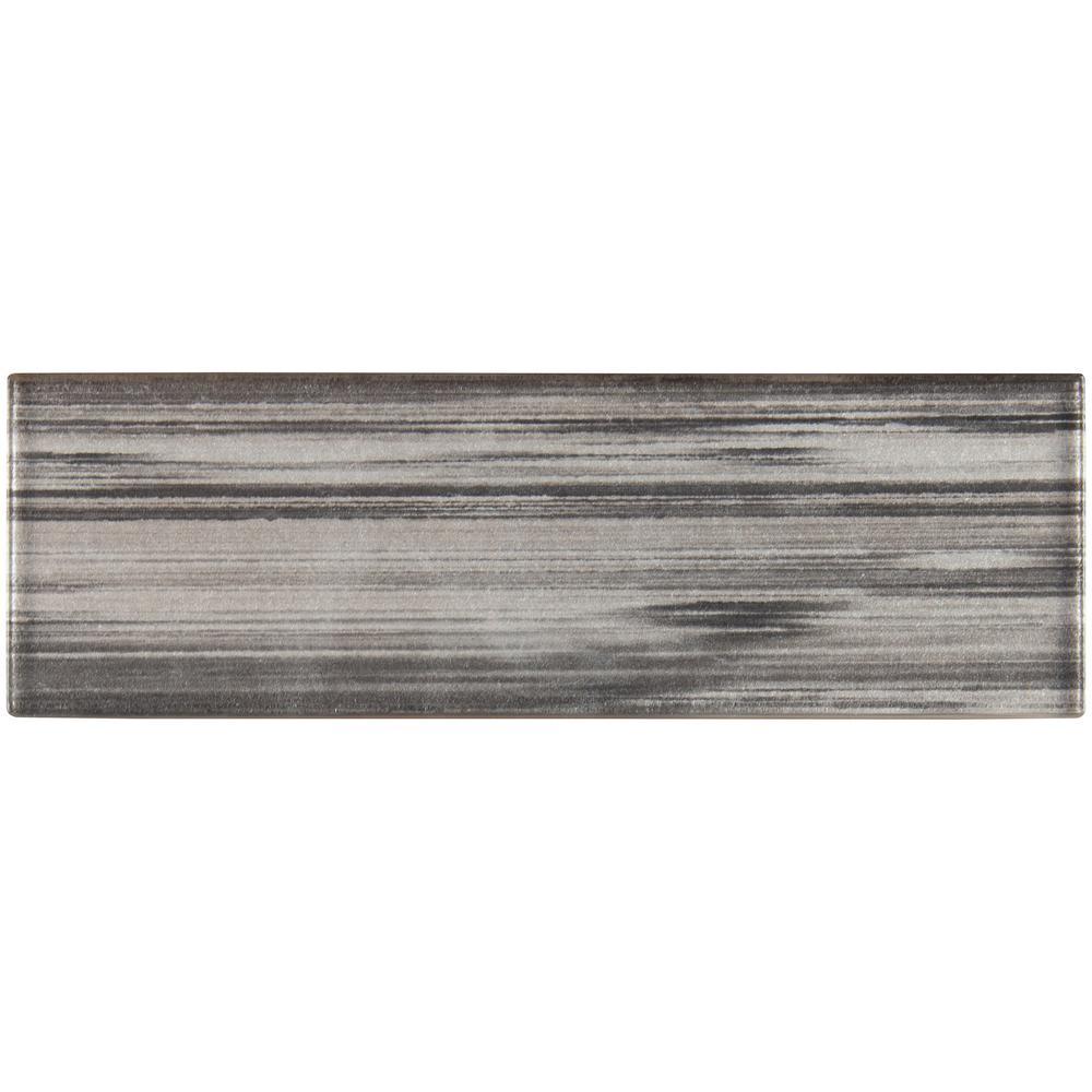 Msi Glacier Black 3 In X 9 Gl Wall Tile 0 125 Sq Ft