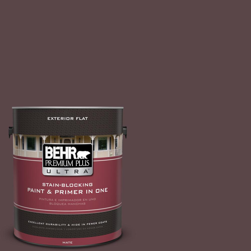 1 gal. #MQ1-44 Wild Boysenberry Flat Exterior Paint and Primer in