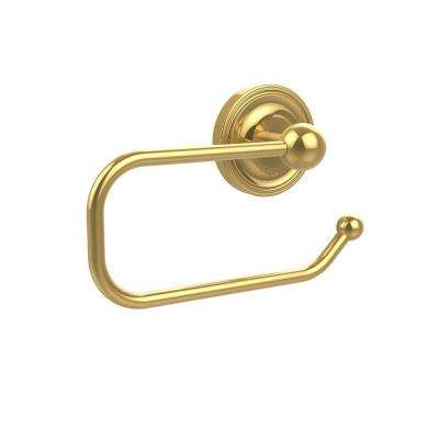 Prestige Regal Collection European Style Single Post Toilet Paper Holder in Polished Brass