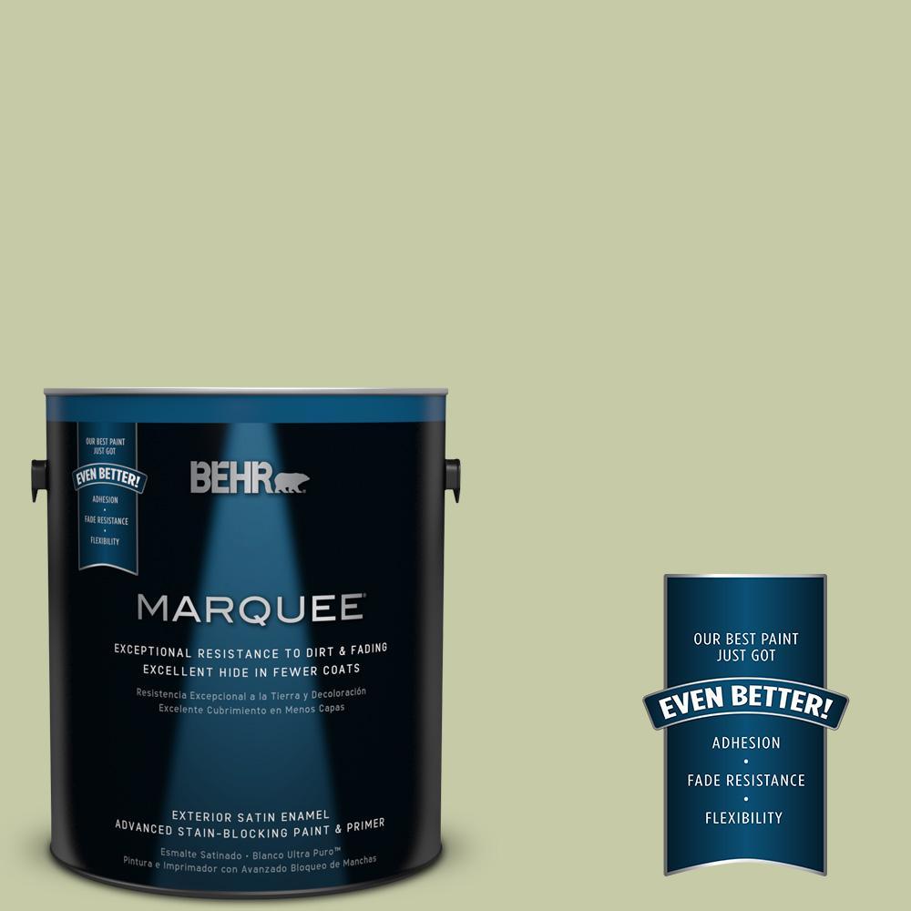 BEHR MARQUEE 1-gal. #M350-3 Sap Green Satin Enamel Exterior Paint