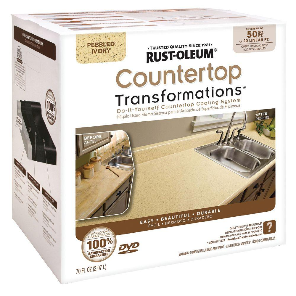 Rust-Oleum Transformations Large Pebbled Ivory Countertop Kit (Covers 50 sq. ft.)-DISCONTINUED