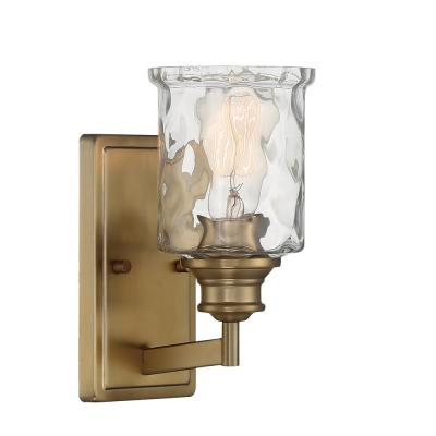Drake 1-Light Brushed Gold Wall Sconce