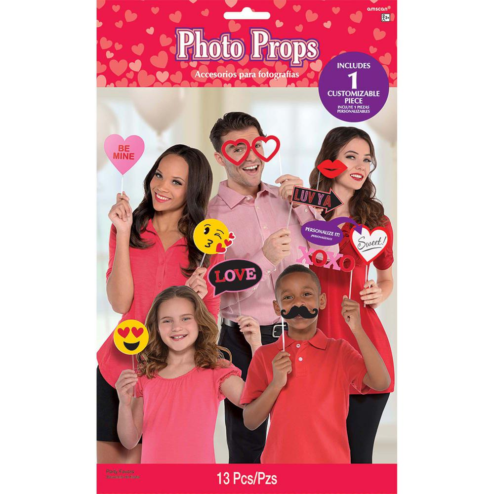 AMSCAN Valentine's Day Photo Booth Props (13-Count 2-Pack)