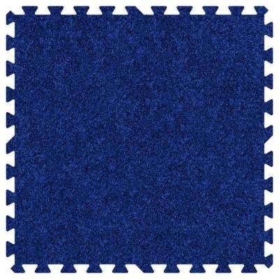 Royal Blue 24 in. x 24 in. Comfortable Carpet Mat (100 sq. ft. / Case)