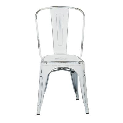 Bristow Antique White Armless Metal Chair (2-Pack)