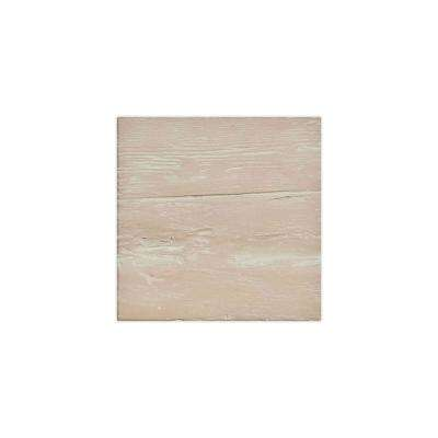 6 in. x 6 in. Riverwood Whitewash Endurathane Faux Wood Ceiling Beam Material Sample