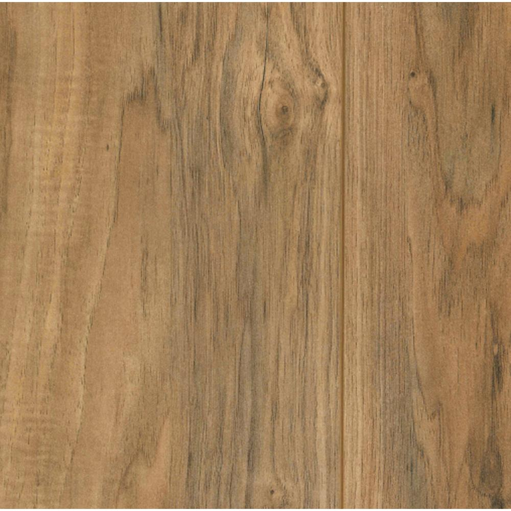Trafficmaster lakeshore pecan 7 mm thick x 7 2 3 in wide for Square laminate floor tiles