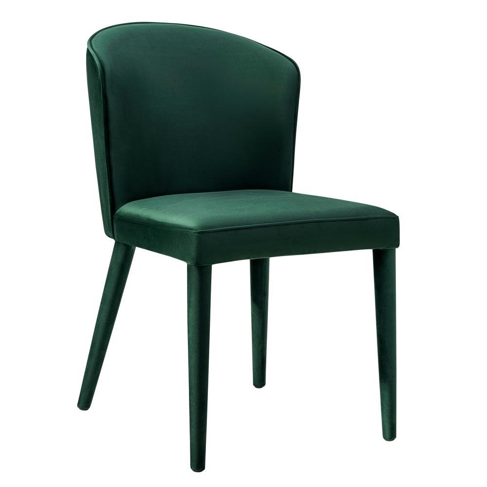 Beautiful TOV Furniture Metropolitan Forest Green Velvet Chair