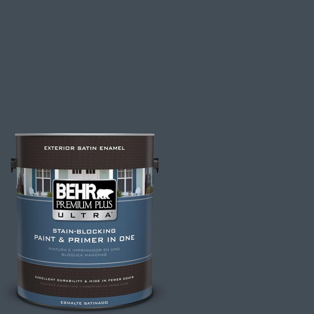 BEHR Premium Plus Ultra 1-gal. #PPF-48 Evening Storm Satin Enamel Exterior Paint