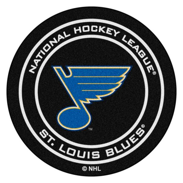 St. Louis Blues Black 27 in. Round Hockey Puck Mat