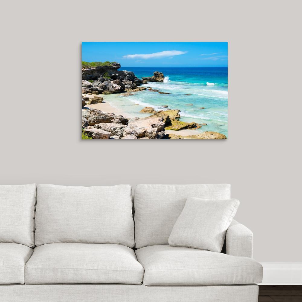 """Isla Mujeres Coastline II"" by Philippe Hugonnard Canvas Wall Art"